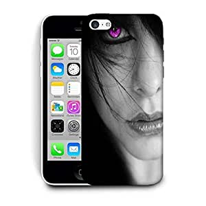 Snoogg Pink Eyes Printed Protective Phone Back Case Cover For Apple Iphone 5C