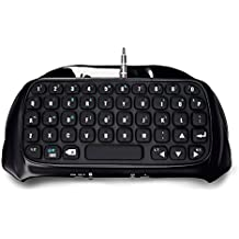 Picozon Bluetooth Wireless Mini Keyboard KeyPad Adapter for PlayStation 4 DualShock Controller