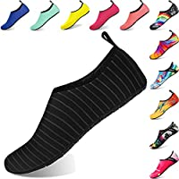 BIGU Water Shoes Mens Womens Barefoot Shoes Beach Snorkeling Swimming Quick Drying Slip On Yoga Shoes Skin Socks for Kids Sports Aqua Shoes for Walking,Park,Boating