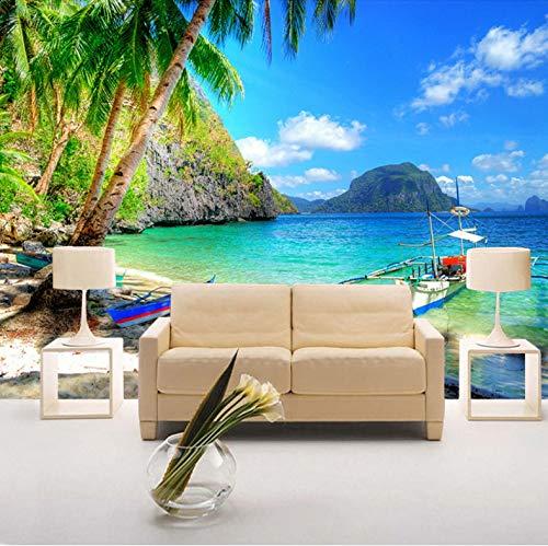 VVBIHUAING 3D Wandbilder Dekorationen Tapete Aufkleber Wand Golf Coco Landschaft Wohnzimmer Hintergrund Kunst Dekorative Kinder Schlafzimmer (W) 300x(H) 210cm
