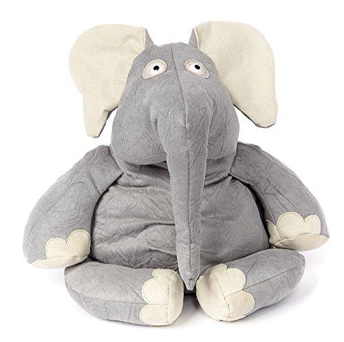 sigikid, Stofftier für Erwachsene und Kinder, Elefant, Nerdy Nerd, BeastsTown, Grau, 38716