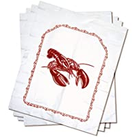 Norpro Lobster Disposable Bibs Crab Seafood Clambake Set Of 4 Plastic 15