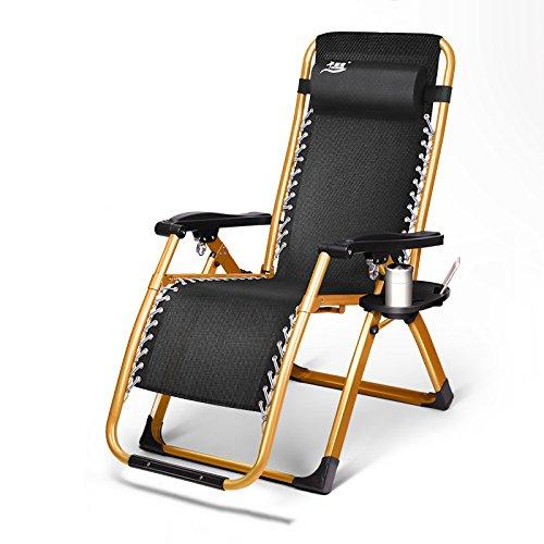 YIXINY Deckchair WQB-T5 Garten Sonnenliegen Eisen Multifunktions Liegestuhl...