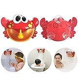 Berrose-Seifenblasenmaschine Große Krabbe Bubble Maker Geblasen Musik Badespielzeug für Baby en-Schaumbad-Helfen Sie Kindern, sich in das Baden zu verlieben- Blow Bath Spielzeug Machine Tub (mehrfarbig, 24 x 7 x 15.5cm)