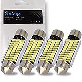 Safego 4x C5W LED Anti Erreur Blanc 41mm 3014 Ampoules 30SMD Feston Dôme Voiture Intérieur LED Lumière 211-2 578 DC 12V 6000k