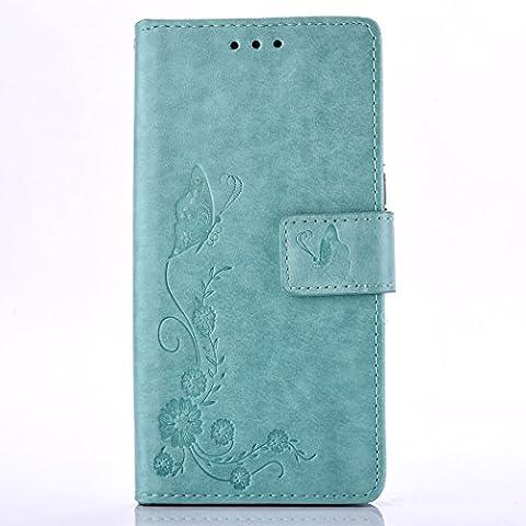 Leather Case Cover Custodia per Huawei P9 ,Ecoway Caso /
