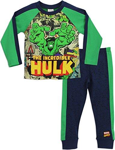 Hulk-Pigiama-a-maniche-lunga-per-ragazzi-Marvel