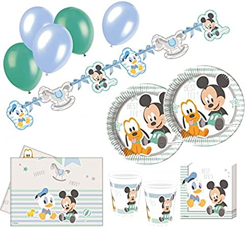 74 Teile Disney Baby Micky and Friends Party Deko Set 16 Personen