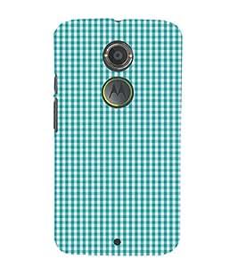Checks Pattern 3D Hard Polycarbonate Designer Back Case Cover for Motorola Moto X2 :: Motorola Moto X (2nd Gen)