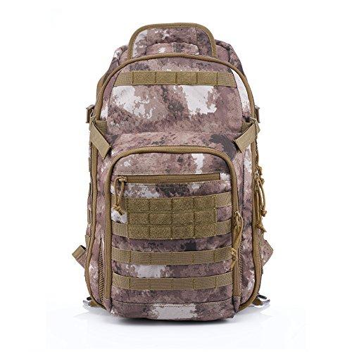 YAKEDA® Bolsa de hombro bolsos del alpinismo al aire libre equipado camuflaje táctico mochila de camping bolsa de viaje Bolsas de viaje Mochila Mochila militar 60L que acampa yendo Trekking Bolsa - A88034 (camuflaje del desierto)