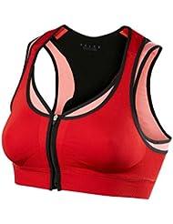 FALKE T-shirt de sport pour femme avec soutien-gorge avec fermeture éclair