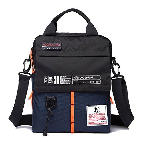 Supa Moden Men nylon borsa messenger a tracolla organizzatore cartella da escursionismo confezione multi-pocket Sling borsa a tracolla, Uomo, Green Dark Blue