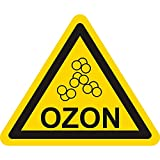 Warnzeichen - Ozon - Warnung Ozon - Seitenlänge 50 mm
