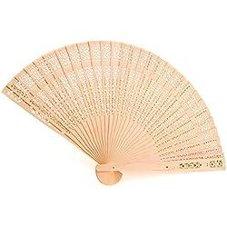 Los aficionados chinos Fan plegable perfumado a cielo abierto de madera de sándalo Chino (juego de 12)