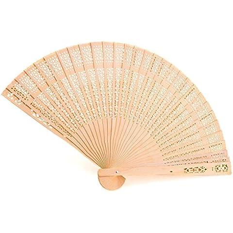 Los aficionados chinos Fan plegable perfumado a cielo abierto de madera de sándalo Chino (juego de