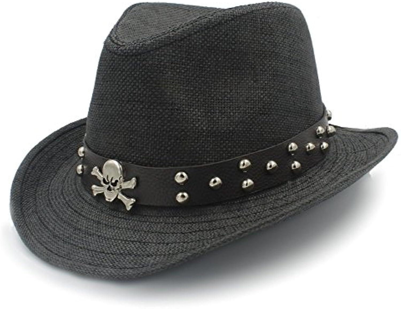 BAOJU Home Cappello - Cappellino Cappellino - da Cowboy di Paglia Sombrero  Western con Cappelli da 0aeb7162b5a4