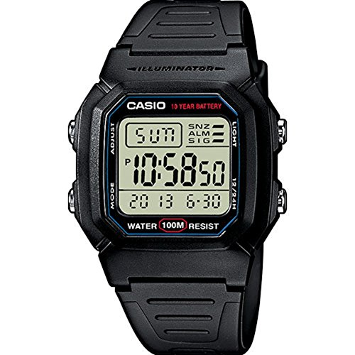Casio Collection  W-800H-1AVES, Reloj Digital Unisex, Negr