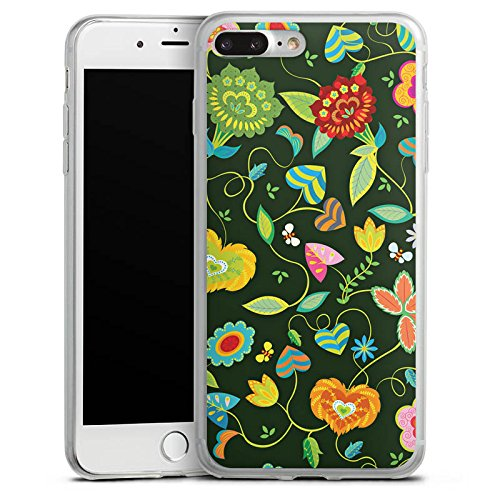 Apple iPhone X Slim Case Silikon Hülle Schutzhülle Bunt Blumen Abstrakt Silikon Slim Case transparent