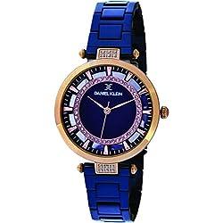Daniel Klein Analog Blue Dial Women's Watch-DK11379-4