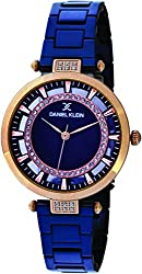 Daniel Klein Analog Blue Dial Womens Watch-DK11379-4