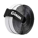 Gimars [ 8M ] Klettband selbstklebend, Flausch & Haken, 20mm breit, inkl. ein Kabelbinder mit Schnalle, schwarz