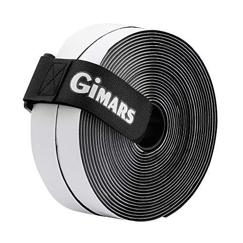 Gimars [ 8M ] Klettband selbstklebend, Flausch & Haken, 20mm breit, inkl. ein Kabelbinder mit Schnalle, schwarz -