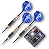 Dartpfeile, Steel Soft Dart Darts Komplettset | 3x Dartpfleile Steeldarts & Softdarts | 3x Nylon Shaft | 3x Barrel | 9x