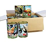 Nassfutter Fleisch Pur 11-er á 410g = 4,51 kg Dosenfutter für den Hund auch zum Barfen getreidefrei Glutenfrei, Fleisch pur auch für sehr empfindliche Hunde geeignet frei von billigen Füllstoffen