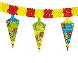 Girlande mit Dekoration * ALLES GUTE ZUM SCHULANFANG * für eine Einschulungsparty // Schule Einschulung Kinder Feier Fete Set Banner Girlande Partykette Banner Deko Motto Wundertüte Schultüte