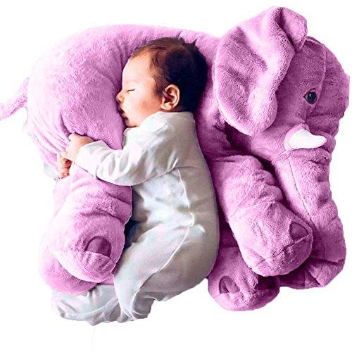 Woneart weich Plüsch-Elefant-Kissen Plüschtiere Stofftier Spielzeug für Baby Kinder Erwachsene Geschenke Deko (Lila) (Elefant Lila Stofftier)