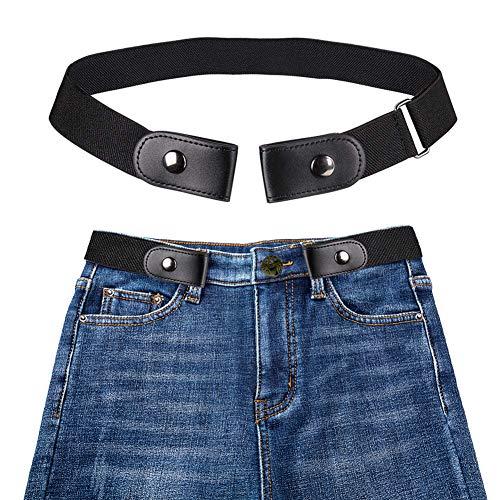 periwinkLuQ Invisible Buckle Gürtel, schnallenfrei, elastisch, Unisex, bequemer unsichtbarer Gürtel für Jeans, kein Auswölben