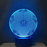 3D Led Nachtlicht Farben Ändern Italien Ssc Napoli Dekoration Lampe Fußball Tischlampe Usb Touch Licht Kinder Vater Geschenk