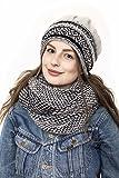 Kombiset Strickmütze Loopschal Mützenset Schal und Mütze Schalset(Norweger)