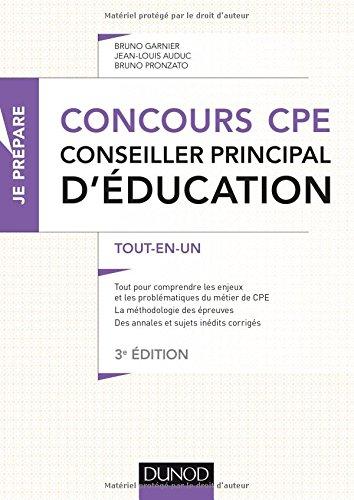Concours CPE - Conseiller principal d'ducation - 3e d. - Tout-en-un