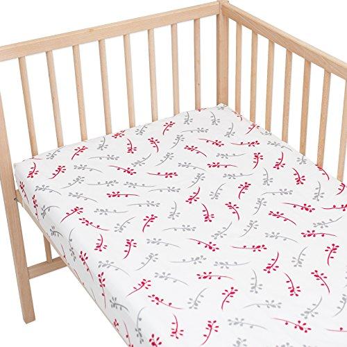 Isabella Lot de 2 draps housse Pati'Chou pour lit bébé 70x140 cm