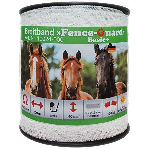 *Eider FenceGuard Weidezaunband 40 mm Breitband – Qualität Made in Germany – der Preis/Leistungs Bestseller (200m)*