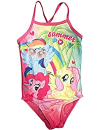 f72fb6284570d My Little Pony Girls Swimsuit Summer Pink One Piece Swimming Costume