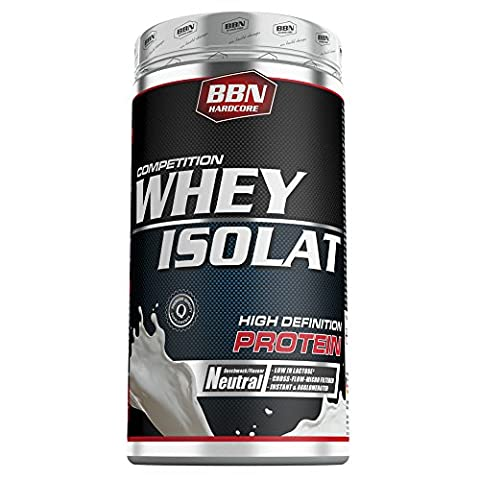 BBN Hardcore Competition Whey Isolat Neutral, 1er Pack (1 x 500 g) (Hardcore Protein)