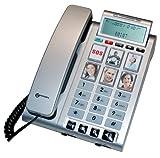 Geemarc Photophone200 Silver Téléphone filaire avec mémoires photos (version Française)