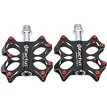 Lixada 2 Piezas Pedales para BMX MTB de Aleación de Aluminio 3 Rodamientos Sellados CNC Eje de Acero 5 Colores de Plataforma