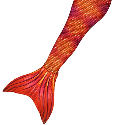 SUN TAILS Meerjungfrauenflossen Kostüm Tiger Queen für Kinder Jugendliche und Erwachsene zum schwimmen M