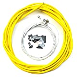 winomo Fahrrad Kabel und Gehäuse Set Edelstahl Universal Bremszug (gelb)