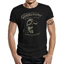 Original GASOLINE BANDIT® Gentlemen Rider Design T-Shirt: Gentlemen No Bike - No Life
