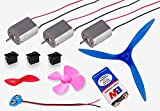 #3: 11 items in 1 kit II 9v Battery + Battery connector + 3 switch + 3 DIY Project Motor + 3 Propeller