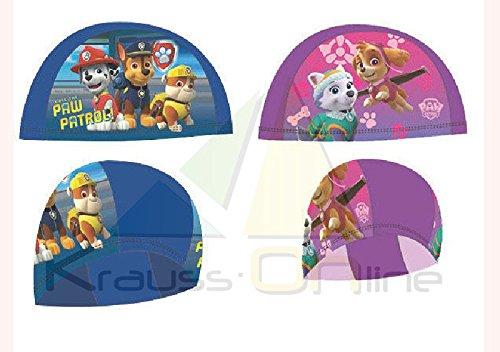 Nickelodeon childrens kids girls paw patrol cuffia da nuoto cappello, pink