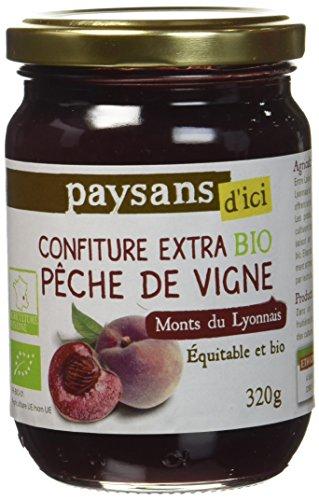 Ethiquable Confiture Pêche de Vigne Monts du Lyonnais 320 g Bio Paysans d'Ici - Lot de 3