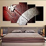 mbambm Moderne Leinwand MalereiHd Gedruckt Wandkunst Bilder 5 Stücke American Football Sport Poster Wohnzimmer DekorationKein Rahmen