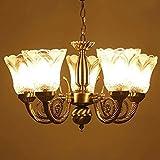 #3: SheronIndia 5 light Golden Antique Chandeliers LED for Home Decor