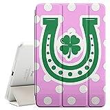 FJCases Polkapunkte Muster Hufeisen Irisches Kleeblatt Glück (Hellrosa) Smart Cover Tablet-Schutzhülle Hülle Tasche + Auto aufwachen / Schlaf Funktion für Apple iPad Mini 4