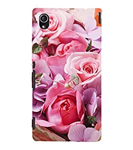Vizagbeats Pink Roses Back Case Cover for SONY XPERIA M4 AQUA